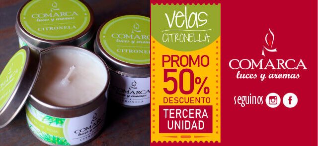 Velas de Cera de Soja Citronela