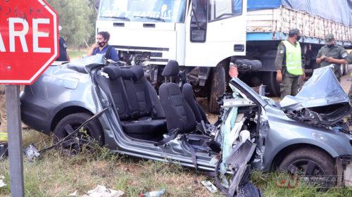Grave accidente sobre ruta 3 deja el lamentable resultado de una persona fallecida