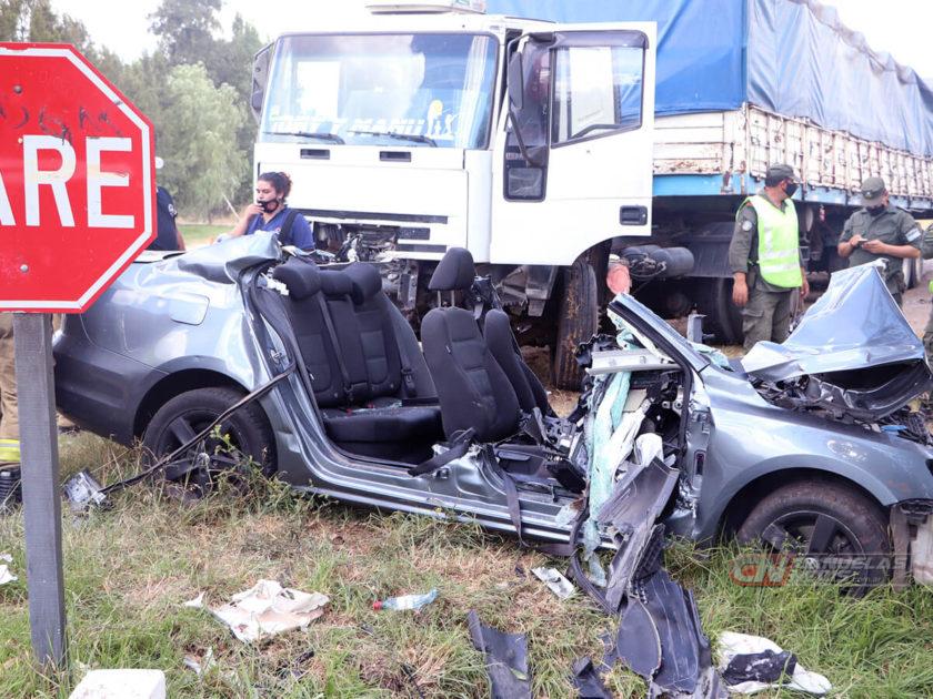 Accidente en Ruta 3, en Cañuelas