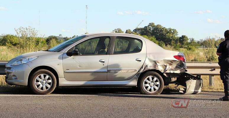 El auto involucrado en el accidente.