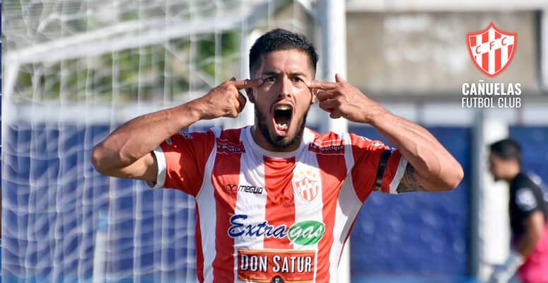 CFC Aguirre luego de convertir el gol ante Lamadrid