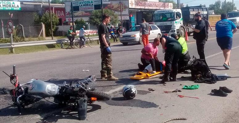Accidente en Ruta 205 y acceso por Uruguay
