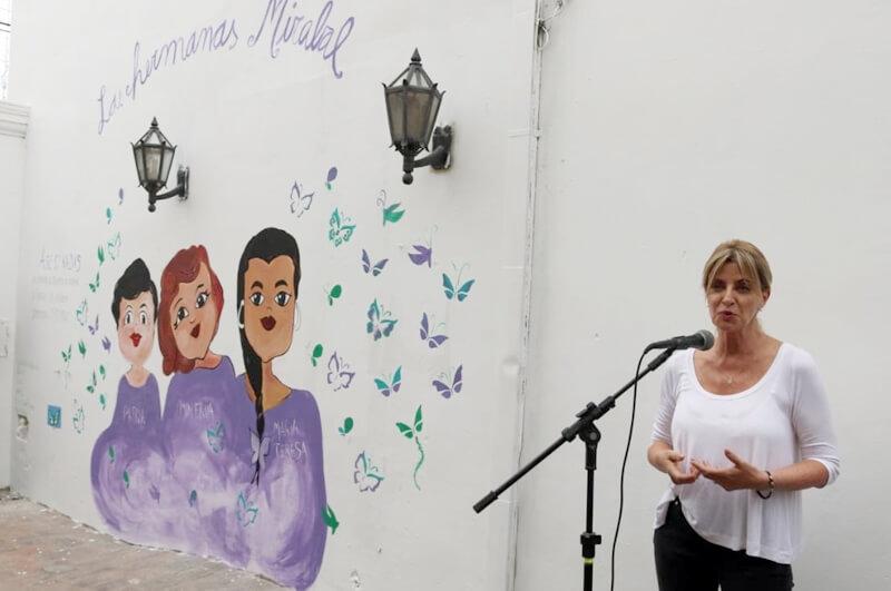 Inauguran mural en la Casa de las Mujeres «Las Mirabal»
