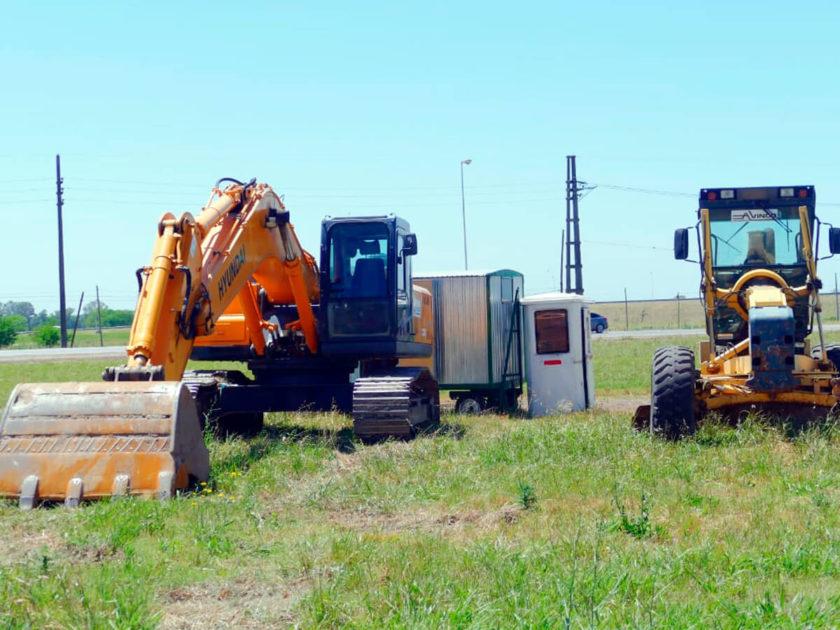 Obras viales en Ruta 3 y 6