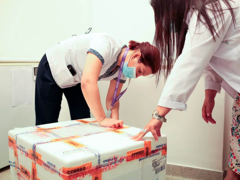 Las primeras vacunas recibidas en Cañuelas