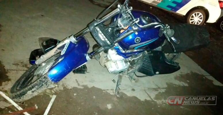 Moto Yamaha YBR 125 secuestrada
