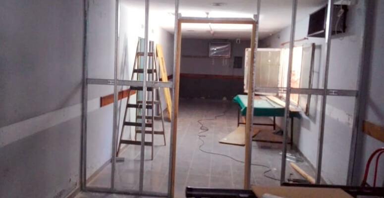 Las obras que se realizan en el hospital.