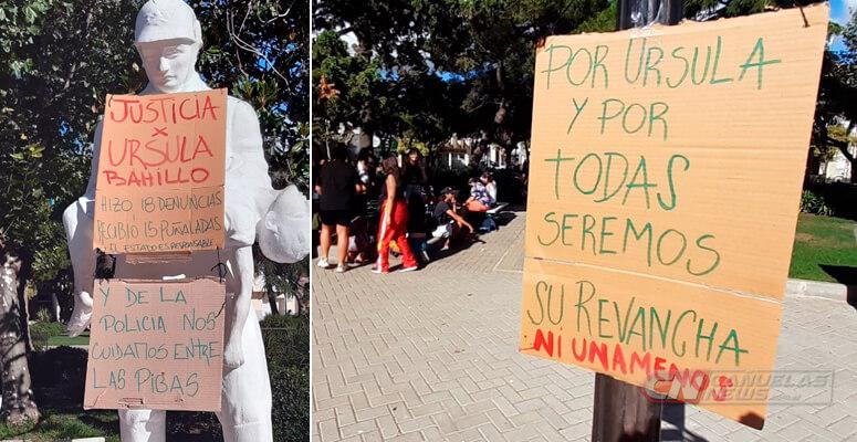 Marcha en Cañuelas por Ursula Bahillo.