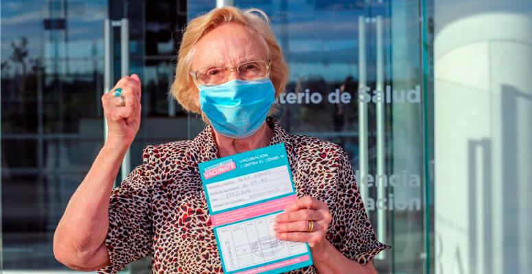 Elsa Alonso, la inoculada 1 millón en toda la Argentina.