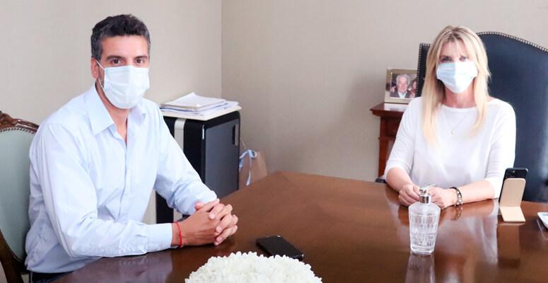 Ignacio Ducasse fue recibido por la intendenta Marisa Fassi