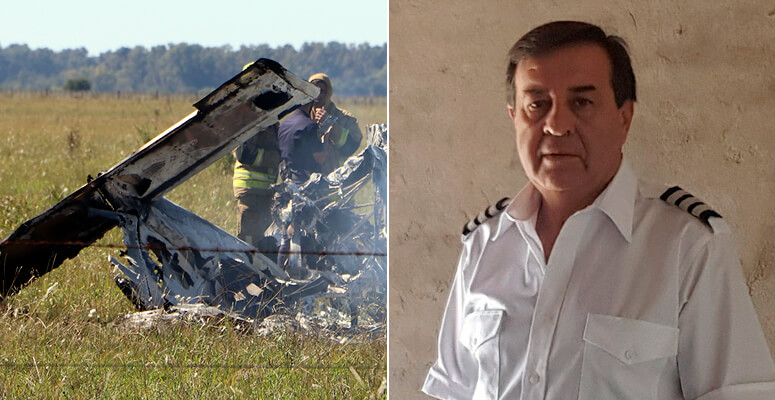 Se estrelló una avioneta en Cañuelas