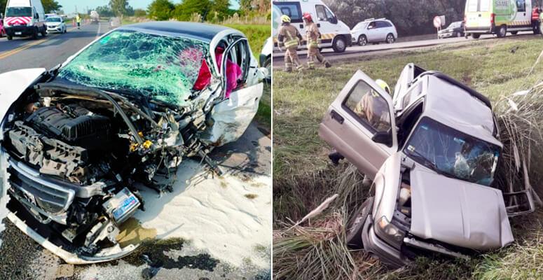 Ruta 205: un conductor muerto por un choque frontal