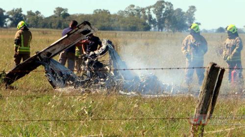 Una avioneta se precipito a tierra y murieron sus dos ocupantes