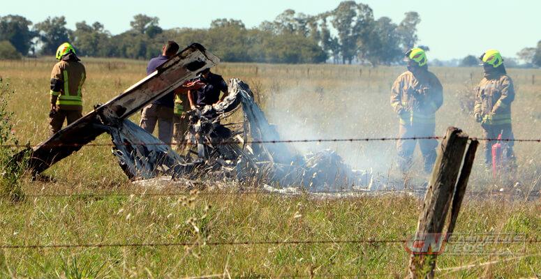 Accidente aéreo en Cañuelas