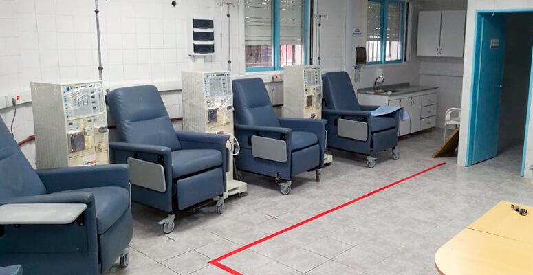 El centro de diálisis habilitado y en funcionamiento