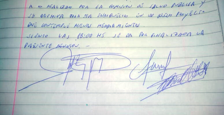 firmas del libro de actas