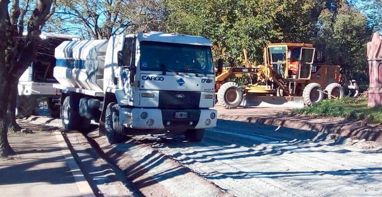 Obras viales en Uribelarrea