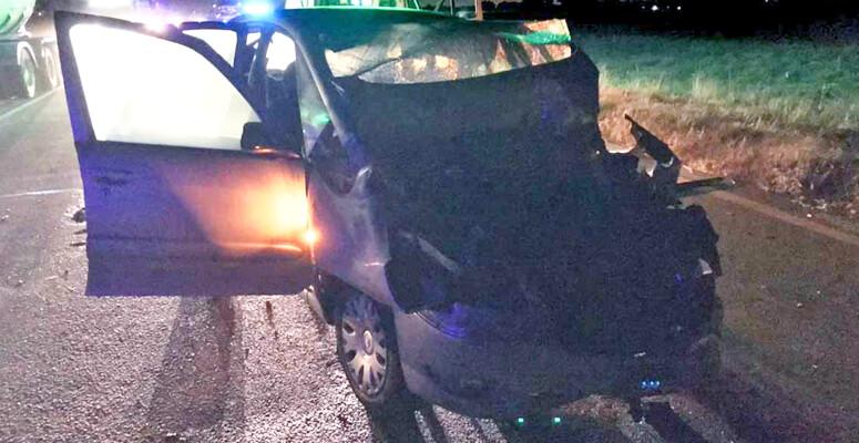 Citroën accidentado en Ruta 6