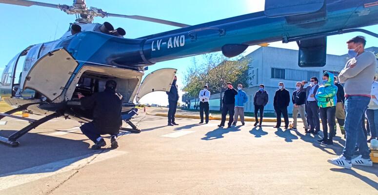 Capacitación sobre de seguridad en las operaciones con helicópteros