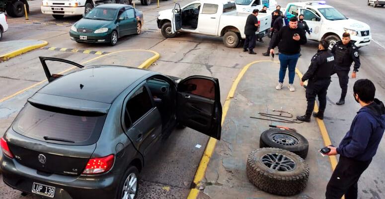Roba ruedas detenidos en Cañuelas
