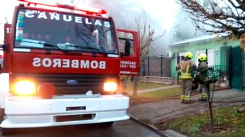 Incendio en una vivienda de calle Moreno