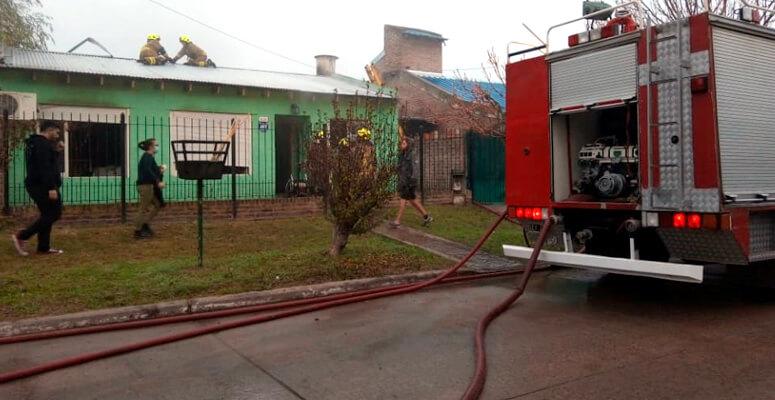 Incendio en vivienda de Calle Moreno