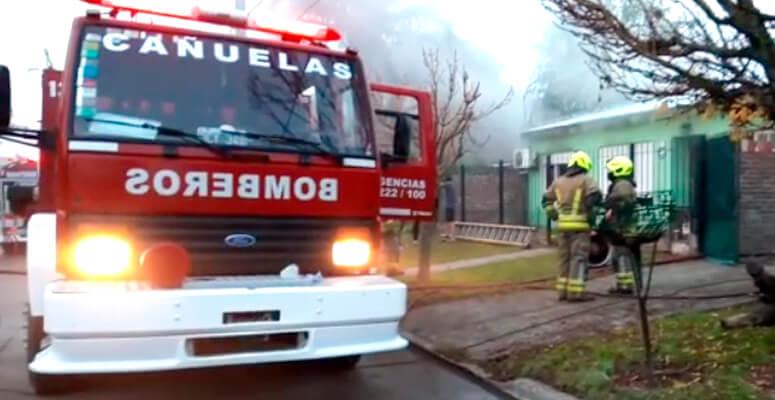 Incendio en vivienda calle Moreno