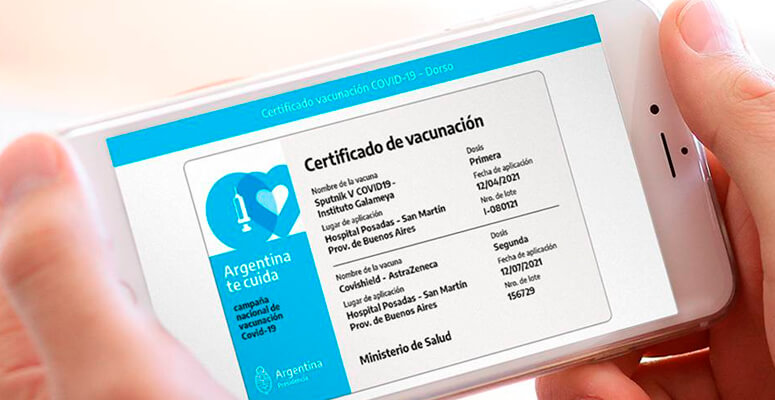 Más de 7 millones de argentinos cuentan con el certificado de vacunación en su celular