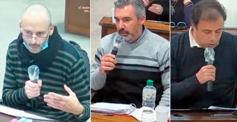 Concejales Mazzanti, Alvarez y Duhalde
