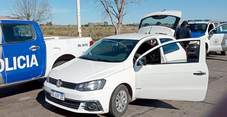 VW Gol Tren en el que se movilizaban los delincuentes