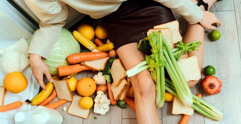 Reducir los alimentos de desperdicio