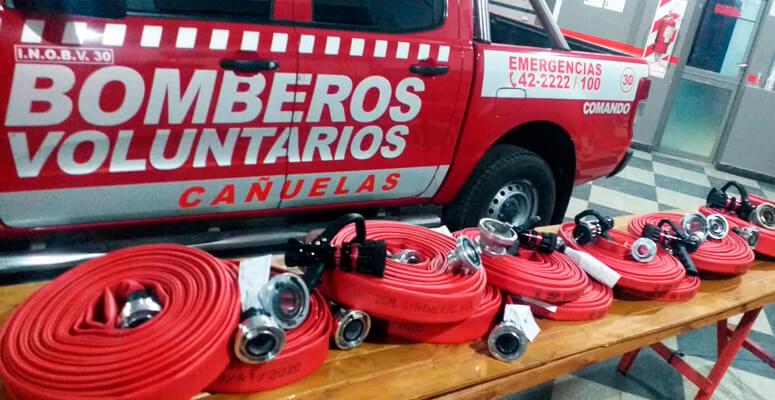 materiales bomberos voluntarios de cañuelas