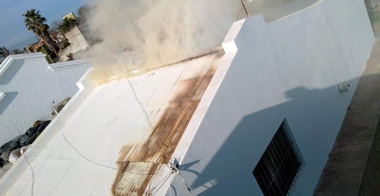 Video: el fuego en el hospital Marzetti solo ocasionó daños en la estructura del edificio