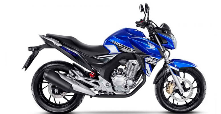 Honda CB 250 Twister azul