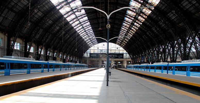 Estación de trenes de Retiro.