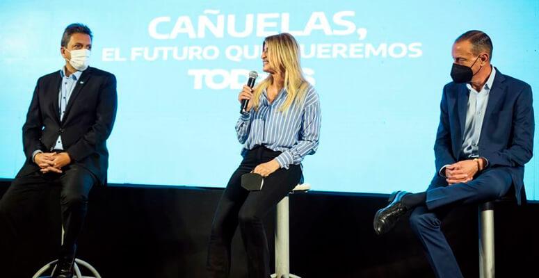 Marisa Fassi, Sergio Massa y Gustavo Arreita
