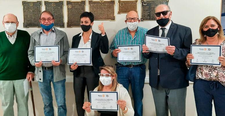 El Rotary Club de Cañuelas entregó distinciones a sus socios