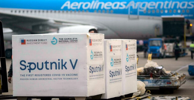 Vacunas Sputnik V producidas en Argentina.