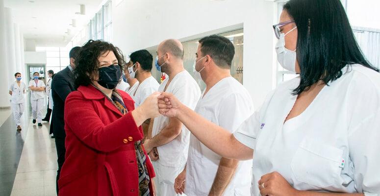 Carla Vizzotti en el hospital Regional