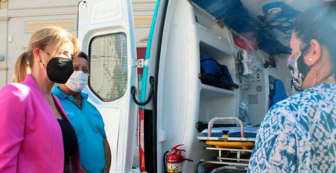 Nueva ambulancia para el hospital marzetti